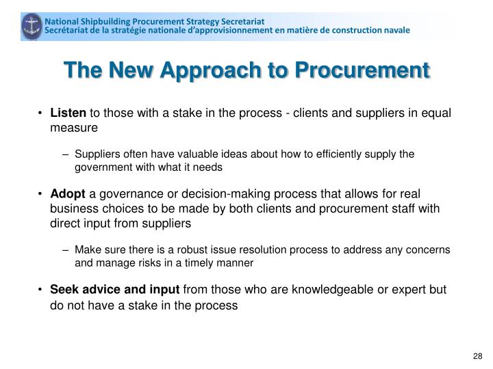 National Shipbuilding Procurement Strategy Secretariat