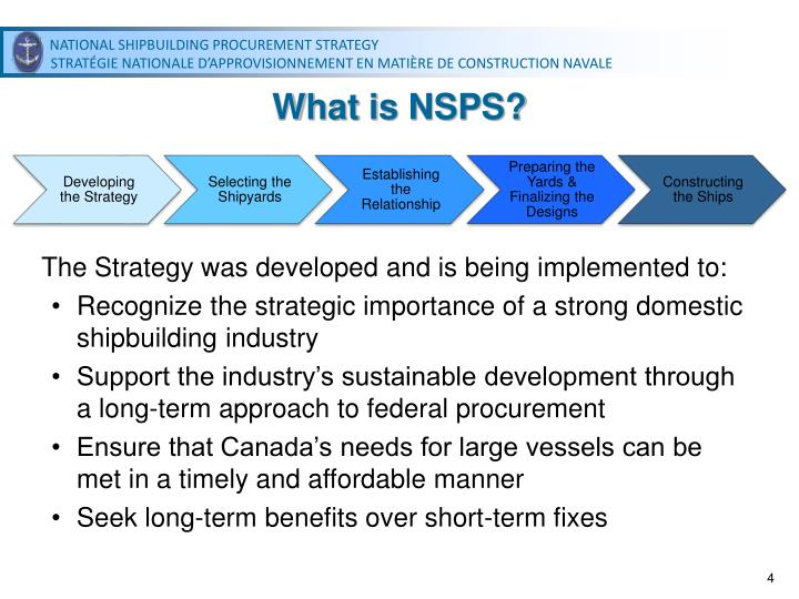 What is NSPS?