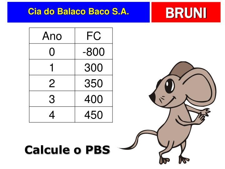 Cia do Balaco Baco S.A.