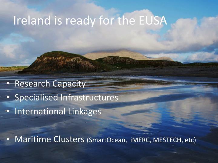 Ireland is ready for the EUSA