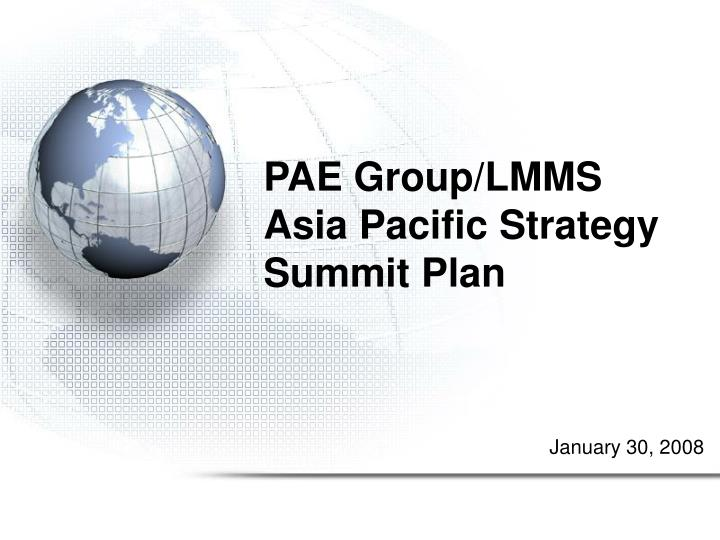 Pae group lmms asia pacific strategy summit plan