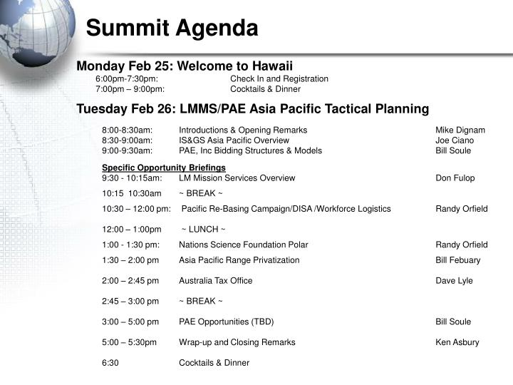 Monday Feb 25: Welcome to Hawaii