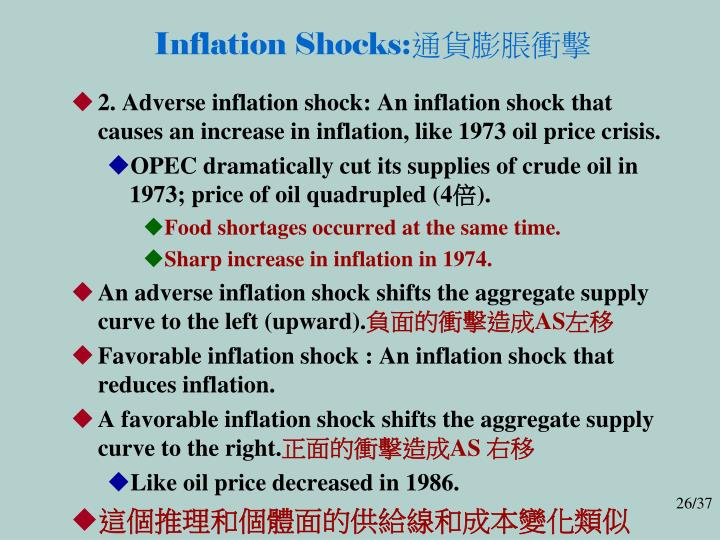 Inflation Shocks: