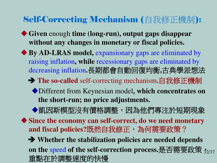 Self-Correcting Mechanism (