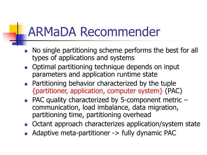 ARMaDA Recommender