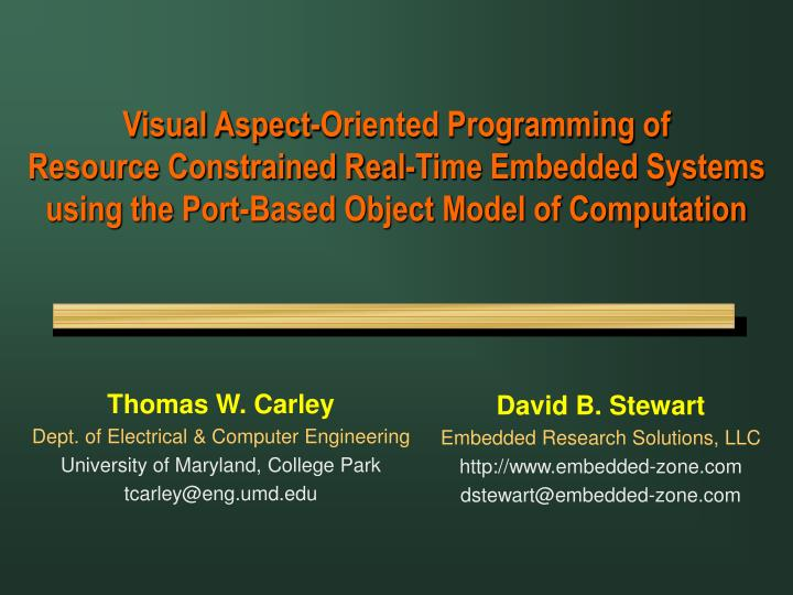 Visual Aspect-Oriented Programming of