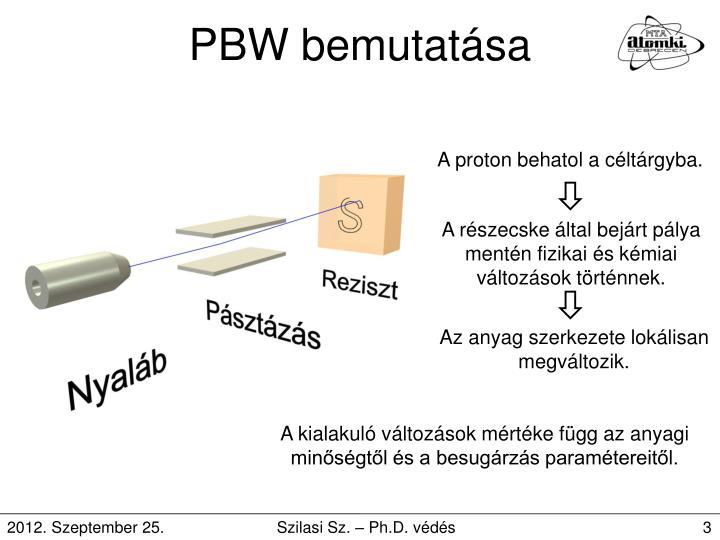 PBW bemutatása