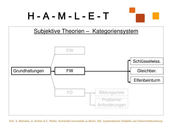 Subjektive Theorien –  Kategoriensystem