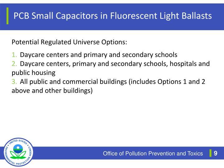 PCB Small Capacitors in Fluorescent Light Ballasts
