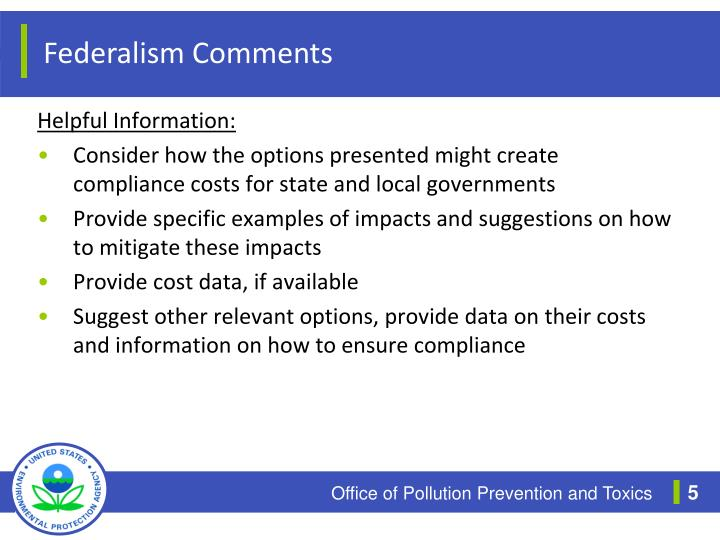 Federalism Comments
