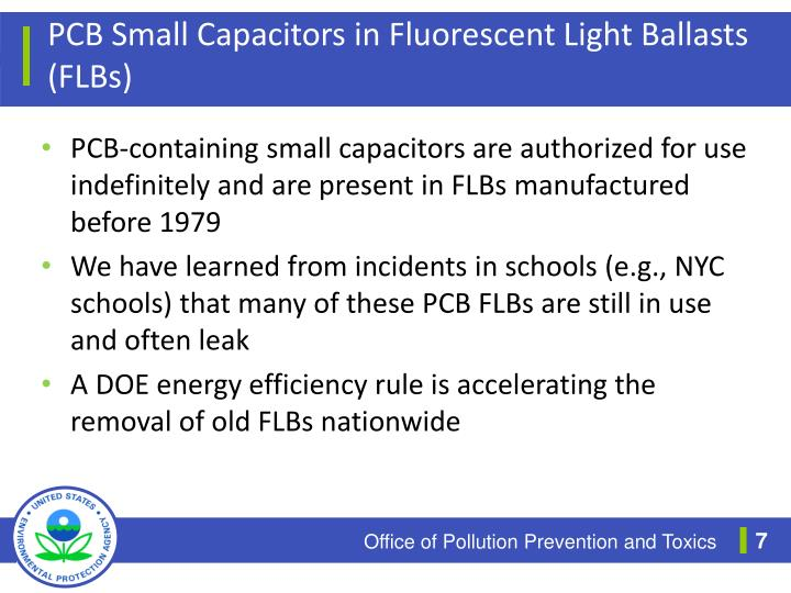 PCB Small Capacitors in Fluorescent Light Ballasts (FLBs)