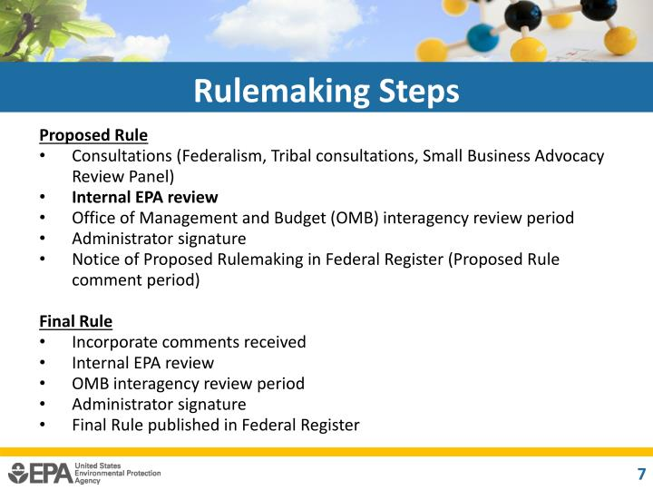 Rulemaking Steps