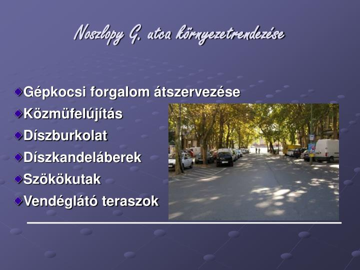 Noszlopy G. utca környezetrendezése