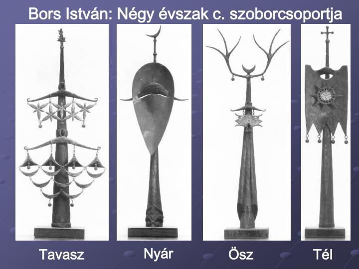 Bors István: Négy évszak c. szoborcsoportja