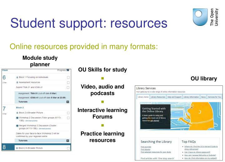 Student support: resources