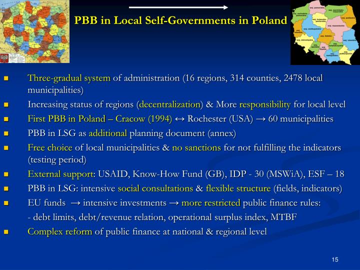 PBB in Local Self-Governments in Poland
