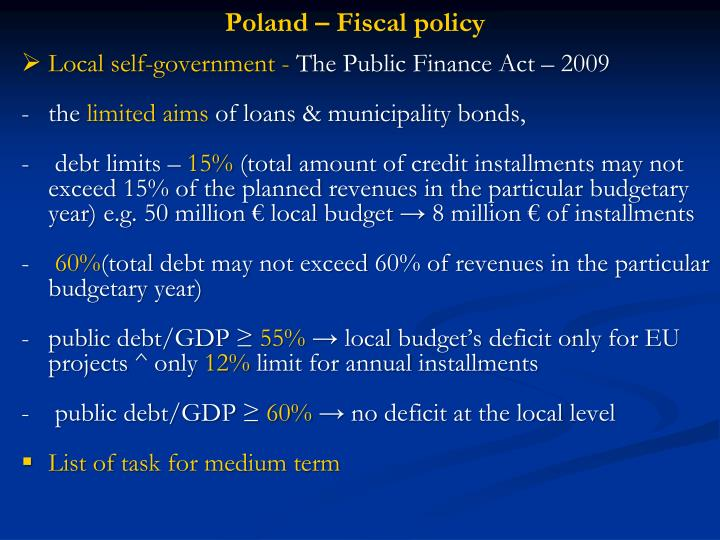 Poland – Fiscal policy