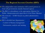 the regional account chamber rio