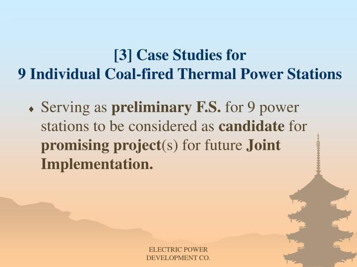 [3] Case Studies for