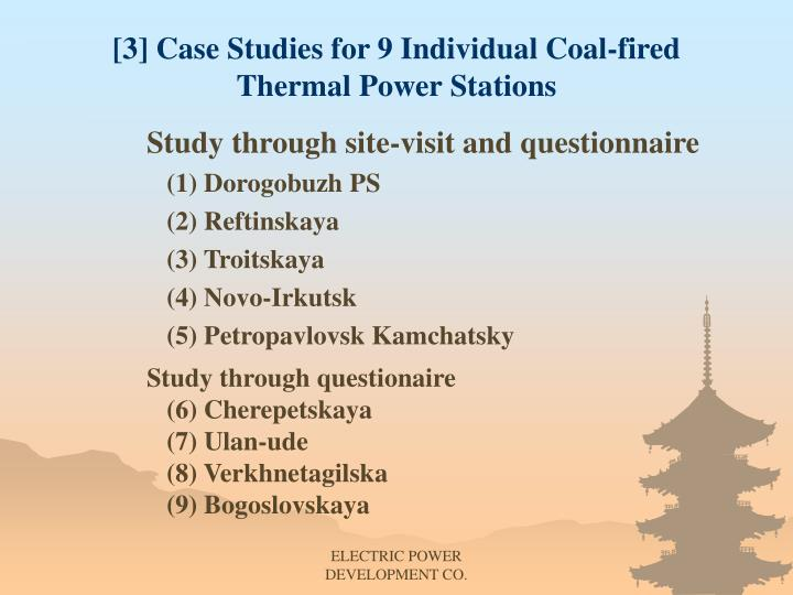 [3] Case Studies for 9 Individual Coal-fired Thermal Power Stations