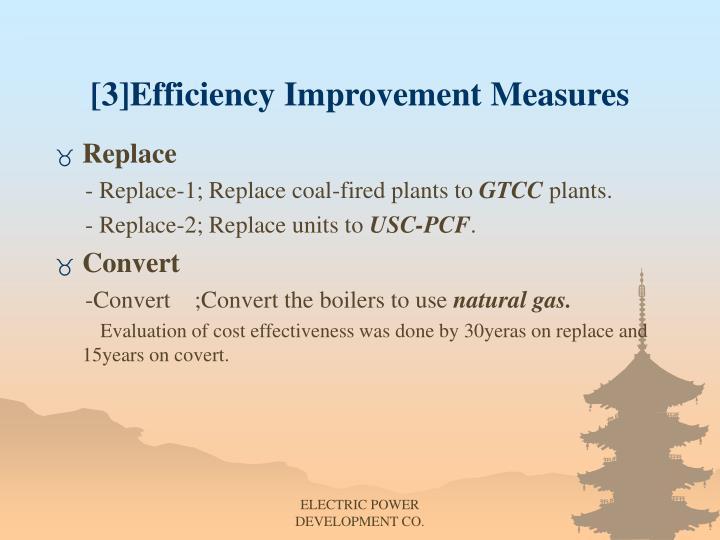 [3]Efficiency Improvement Measures