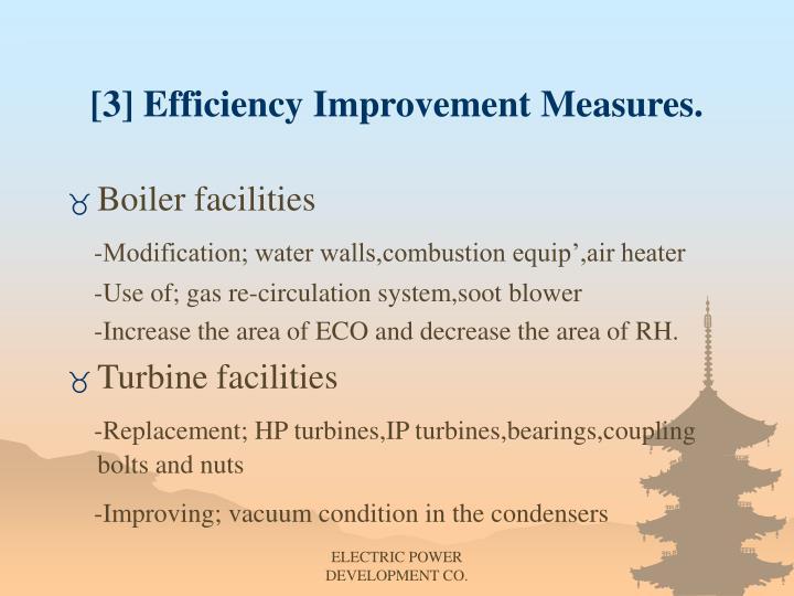 [3] Efficiency Improvement Measures.
