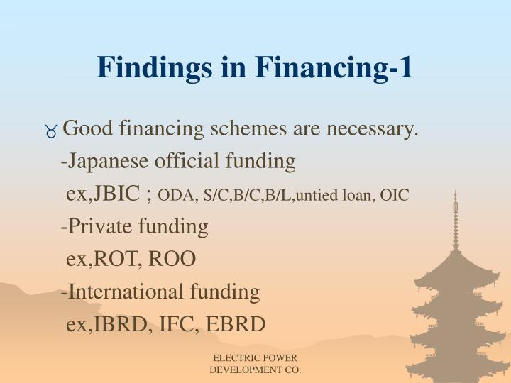 Findings in Financing-1
