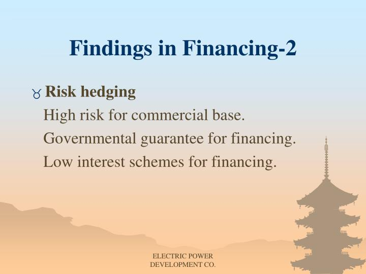 Findings in Financing-2