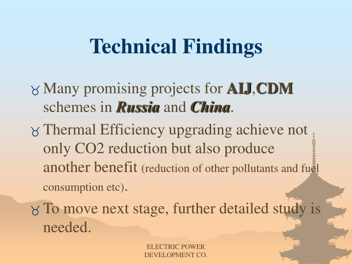 Technical Findings