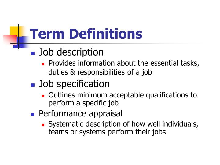 Term definitions