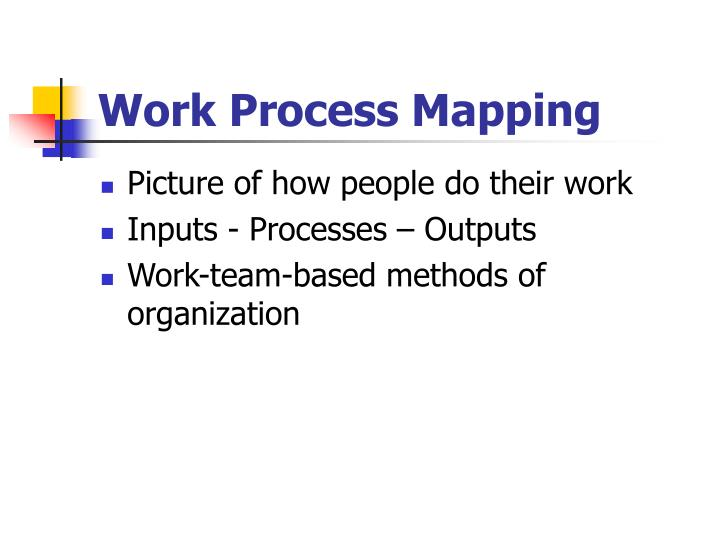 Work Process Mapping