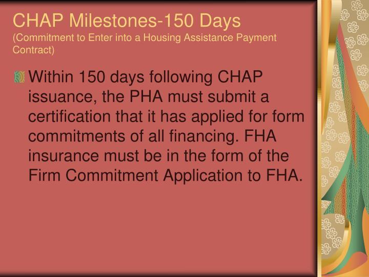 CHAP Milestones-150 Days