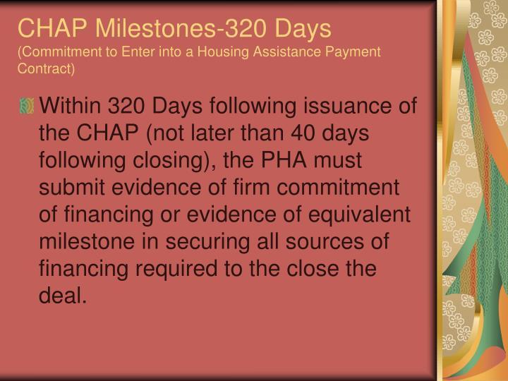 CHAP Milestones-320 Days