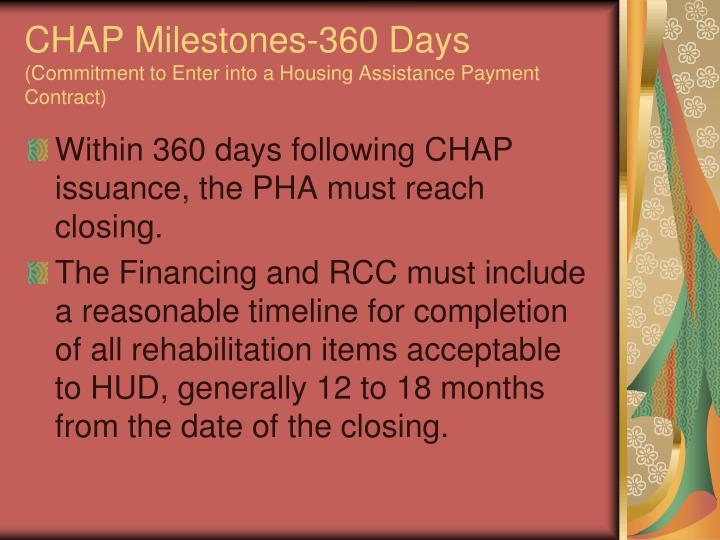 CHAP Milestones-360 Days