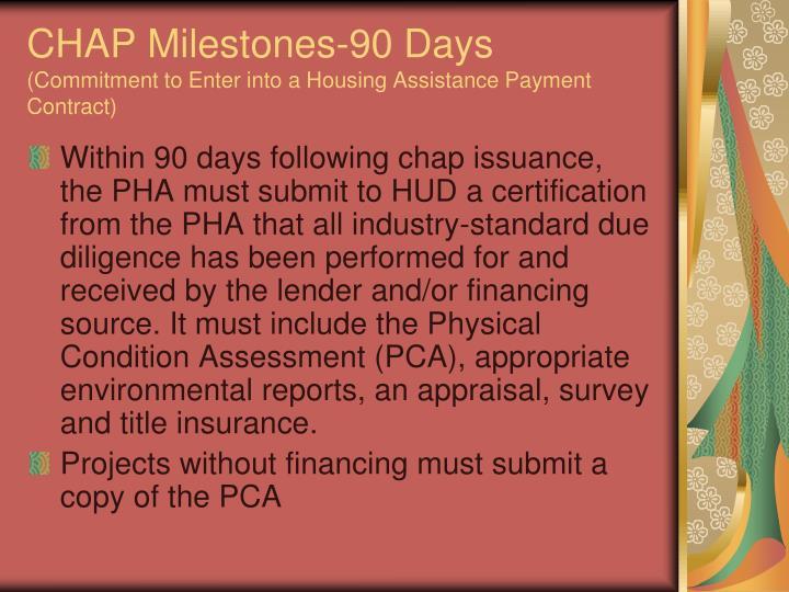CHAP Milestones-90 Days