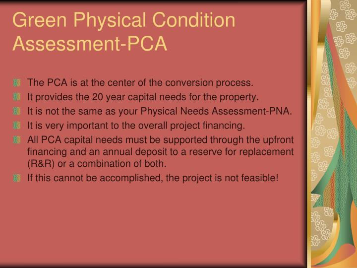 Green Physical Condition Assessment-PCA