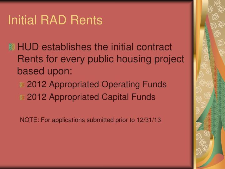 Initial RAD Rents