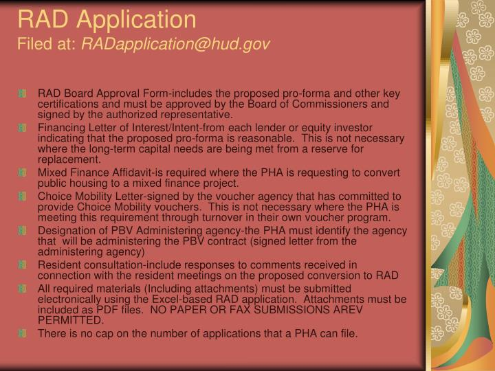 RAD Application