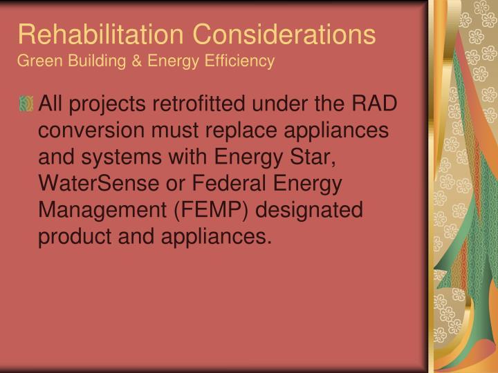 Rehabilitation Considerations