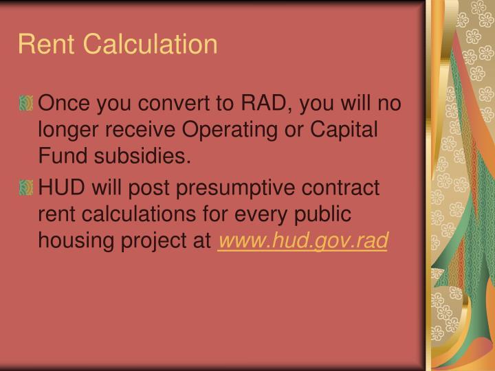 Rent Calculation