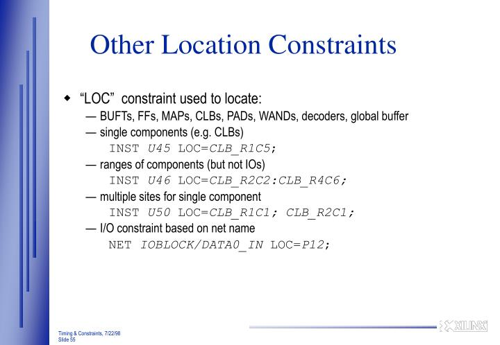 Other Location Constraints