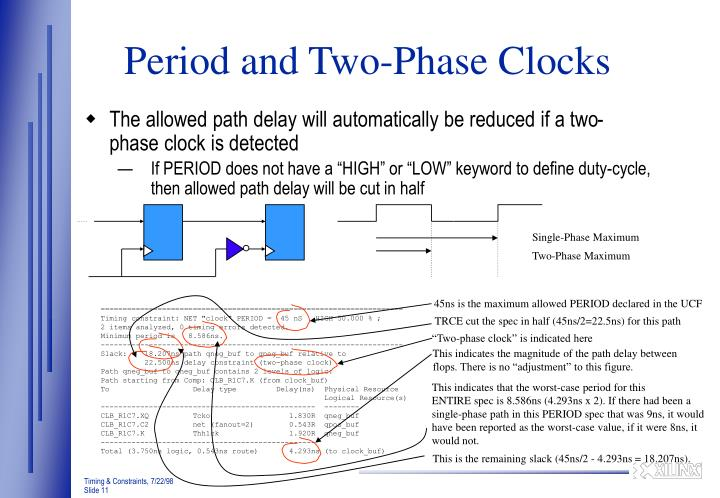 Period and Two-Phase Clocks