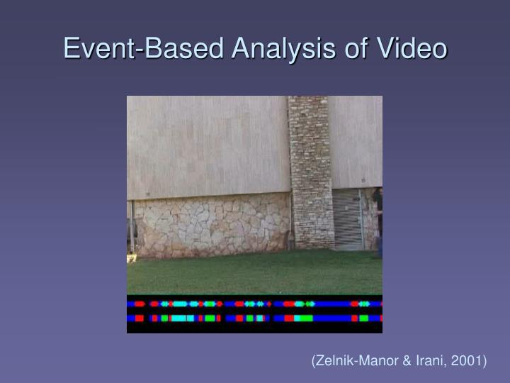 Event-Based Analysis of Video
