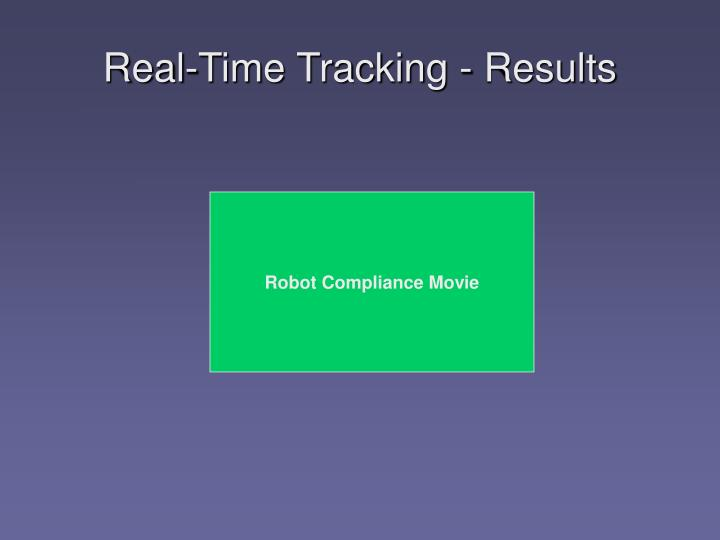 Real-Time Tracking - Results