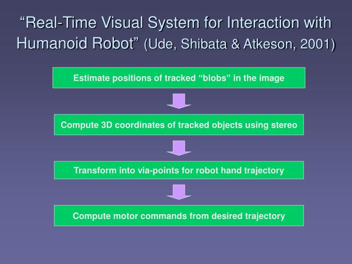 """Real-Time Visual System for Interaction with Humanoid Robot"""