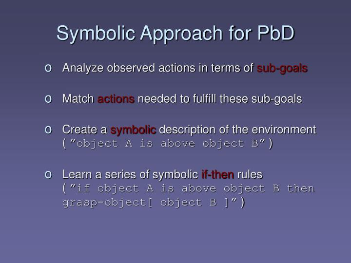 Symbolic Approach for PbD