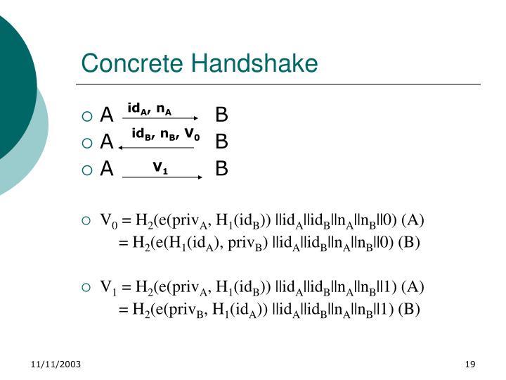 Concrete Handshake