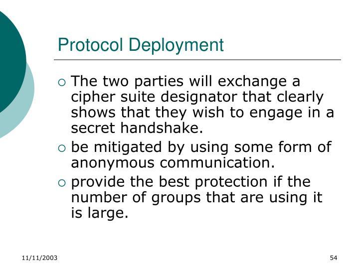 Protocol Deployment