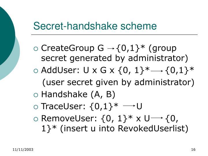 Secret-handshake scheme