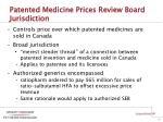 patented medicine prices review board jurisdiction
